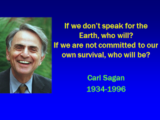 Two related principles from one of my heroes, planetologist and fellow Brooklynite Carl Sagan.